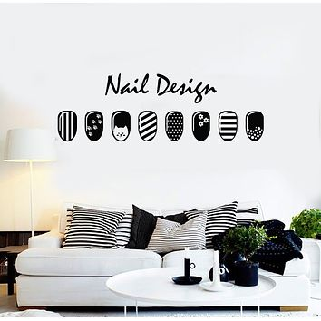 Vinyl Wall Decal Beauty Nail Design Polish Manicure Fashion Stickers Mural (g1752)