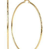Polished Hoop Earrings in 14k Gold Vermeil over Sterling Silver | macys.com
