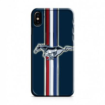 Ford Mustang blue iPhone X Case