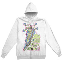 Mayday Parade  Lightning Bolt Girls Jr Hooded Sweatshirt White Rockabilia