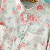 Elegant Floral Button Down Shirts
