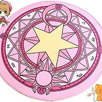 SPJ: Anime Round Area Carpet Magic Square Pattern Rug Floor Mat (Pink)