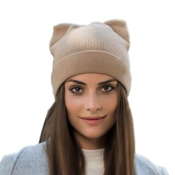 2017 New Spring Autumn Winter Watch Cap Woman Wool Knit Beanie Cap Braided Hat skull hats for women