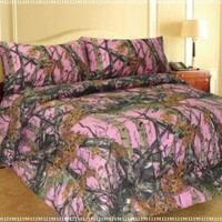 PINK FOREST CAMO 6-Piece MicroFiber Sheet and Pillowcase Set -Queen-:Amazon:Home & Kitchen
