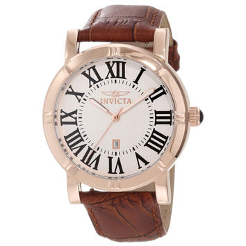 Invicta 13972 Men's Specialty Rose Gold Steel Interchangeable Leather Strap Watch