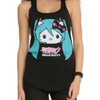 Hatsune Miku X Hello Kitty Girls Tank Top