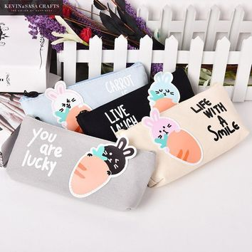 Cute Pencil Case Fabric Kawaii School Supplies Bts Stationery Gift  School Cute Pencil Box Pencilcase Pencil Bag School Tools