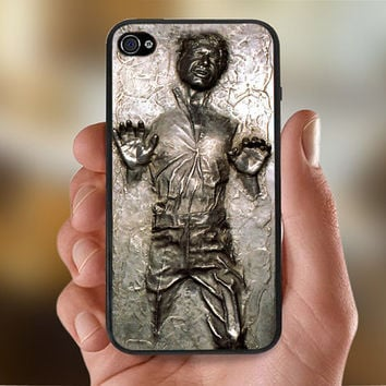 Star Wars Han Solo Carbonite Frozen   - Photo Print for iPhone 4/4s Case or iPhone 5 Case - Black or White