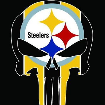 DCCKH6B Pittsburgh Steelers skull flags 90x150cm polyester digital print banner with 2 Metal Grommets 3x5ft