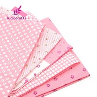 Lucia Crafts 1pcs/lot 50x50cm Cotton Fabric for Sewing DIY Quilting Patchwork Tissue Cloth Kids Bedding Textile Doll 20020019