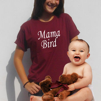 Mama Bird shirt Mother gift Graphic shirt Women's t-shirt new Mom shirt By FavoriTee