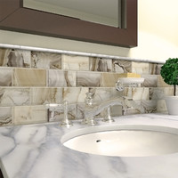 Shop Elida Ceramica Volcanic Essence Glass Mosaic Subway Wall Tile (Common: 12-in x 14-in; Actual: 11.75-in x 11.75-in) at Lowes.com