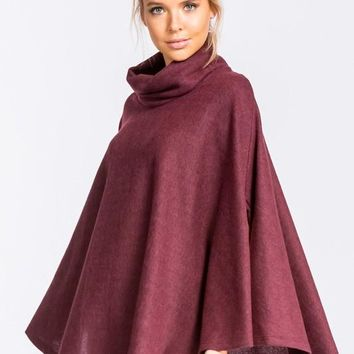 french terry circle poncho top
