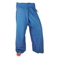 100% Cotton  with Blue Fisherman Pants