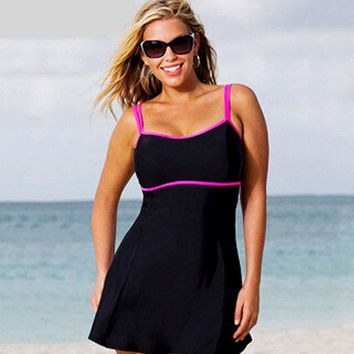 Black Plus Size Dress Swimsuit Tankini Swimwear Swimsuit Bathing Suit Bathing Swimsuits