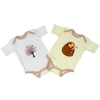 Designer Onesuits 2-pk: Sloths + Trees