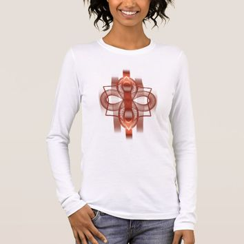 Bella+Canvas Long Sleeve Fractal Pattern Long Sleeve T-Shirt