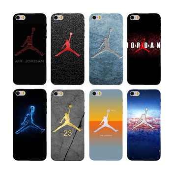 Hot !! (9 kinds) Jordan phone cases for Apple iPhone 6 plus / 6s plus case cover silicone and hard plastic coque