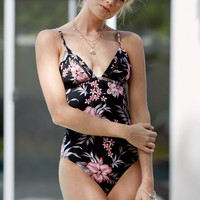 Rhythm Hanalei Cutout Back One Piece Swimsuit at PacSun.com