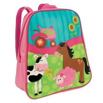 Personalized GoGo Stephen Joseph Backpack Girl Farm