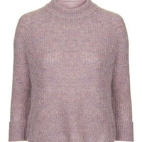 Lofty Knit Boxy Jumper - Lilac