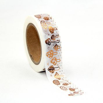 1.5cm*10m Mushroom washi tape DIY decoration scrapbooking masking tape adhesive Tape Scotch DIY Scrapbooking Masking Craft Tape
