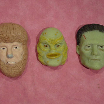 Universal monster soap: Wolfman, Frakenstein and Creature from the Black Lagoon soap