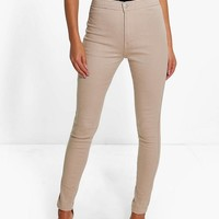 Lara High Rise Tube Jeans | Boohoo