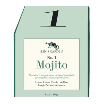Mojito No. 1, 40 Hour Artisan Scented Candle