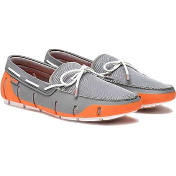 Men's Stride Lace Loafer in Orange, Grey & White Fleck by SWIMS