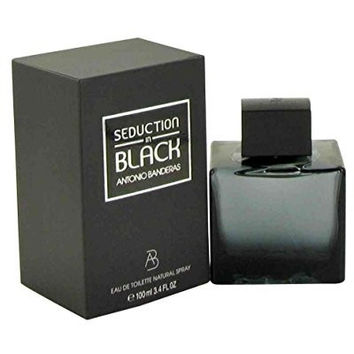 Antoino Banderas Seduction In Black for Men Eau-de-Toilette Spray, 3.4-Ounce