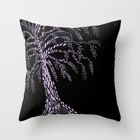 Wisteria Tree Throw Pillow by ES Creative Designs