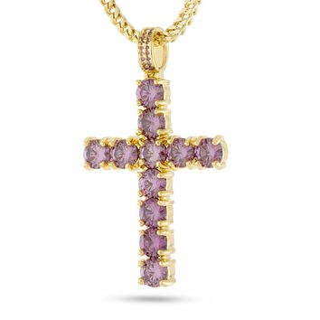 The Kingsman Cross Necklace (Amethyst)