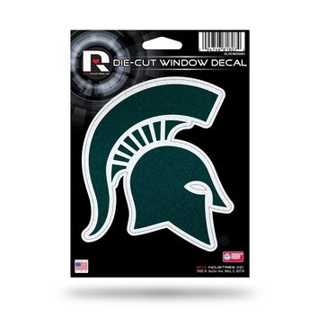 Michigan State Spartans Decal 5.5x5 Die Cut Bling