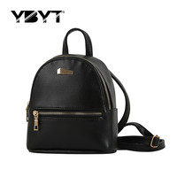 YBYT brand 2016 new small solid preppy style rucksack high quality women shopping backpacks ladies famous designer travel bag