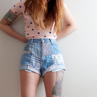 High Waisted 90s Grunge Vintage Hipster by NoteworthyGarments