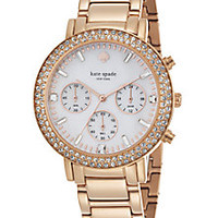 Kate Spade New York - Gramercy Grand Pavé Rose Goldtone Stainless Steel Chronograph Bracelet Watch - Saks Fifth Avenue Mobile