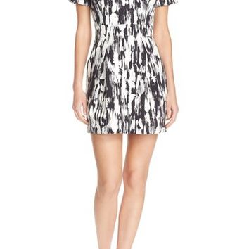 French Connection Print Woven Sheath Dress | Nordstrom