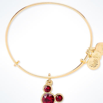 Disney Mickey Mouse Birthstone Bangle by Alex and Ani January Gold Finish New