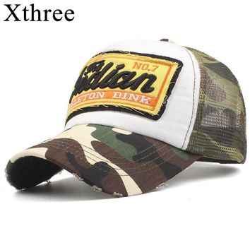 Xthree Summer Mesh Baseball Cap Men Hats For Women Snapback Gorras Hombre hats Casual Hip Hop Caps Dad Casquette