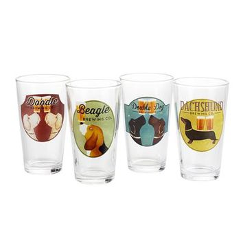 Ale Dogs Beer Glass Set
