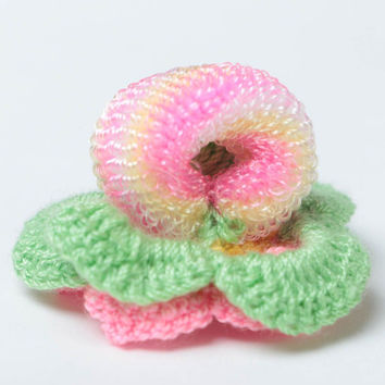Flower scrunchy hand-crocheted scrunchies fashion hair accessories for girls