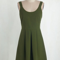 ModCloth Mid-length Tank top (2 thick straps) A-line Purveyor of Charm Dress