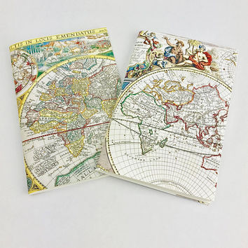 Travel Journal, World Map Journal, Travel diary, Travel notebook, Writing Journal, Blank jotter