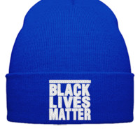 black lives matter embroidery hat  - Beanie Cuffed Knit Cap