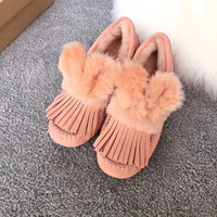 UGG Dakota Cute rabbit ears with tassel slipper