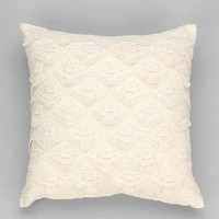 Plum & Bow Layered Lace Pillow-