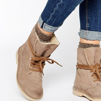 Bronx Ankle Tie Suede Desert Boots