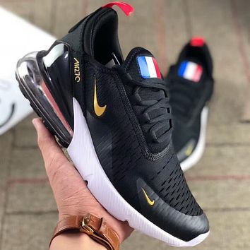 NIKE AIR MAX 270 World Cup champion theme half palm cushion running shoes  F-AA b1de2c5cf6