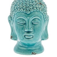 Casa Uno Ceramic Buddha Head Statue, Light | Zanui.com.au